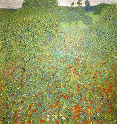 Gustav Klimt - Poppy Field, 1907, oil on canvas, 110 x 110 cm, Galerie Belvedere, Vienna, Austria
