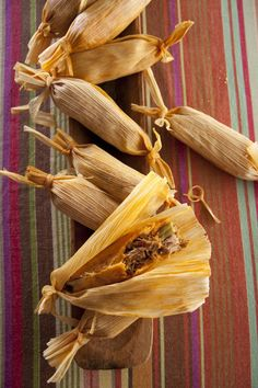 Midnight Pork Tamales   Recipe by Libbie Summers from The Whole Hog Cookbook (Rizzoli 2011)  http://www.saltedandstyled.com/2012/05/04/simmer-down-going-south-of-the-border-for-cinco-de-mayo/