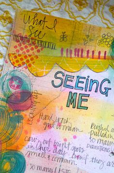 Windows to My World Art Journaling E-Workshop.  Teresa McFayden #art #journal  #lettering