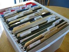 Filing System -  The Bills Folder