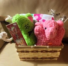 WELCOME PUPPY New Girl Puppy Gift Basket by HappyDogGoodies