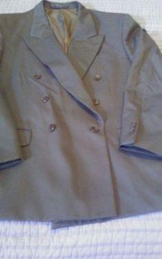 Pierre Balmain Mens Suite Jacket 42r 34 X 29 Medium Gray  100% Wool   #PierreBalmain #DoubleBreasted