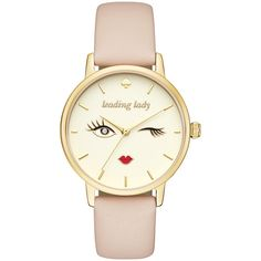 kate spade Metro Watch - Beige - Women's Watches (€165) ❤ liked on Polyvore featuring jewelry, watches, tan, beige watches and water resistant watches