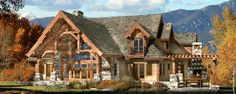 Award-winning timber frame homes by PrecisionCraft. Style characteristics, floor plans and photos give you inspiration for your future timber home. Learn the difference between timber framing and post and beam construction. Timber Frame Home Plans, A Frame House Plans, Log Home Floor Plans, Timber Frame Homes, Timber House, Timber Frames, Wooden House, Log Home Living, Living Room