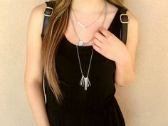 We LOVE #accessories - Layer your necklaces for a super stylish look or pick this one up for $7! #jewelry #LoveIt | www.platosclosettucson.com