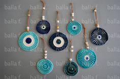 Κεραμικά χειροποίητα επιτοίχια μάτια (22) - Διακοσμητικά - Μπάλλα Φωτεινή - Κεραμικά, Πάτρα Evil Eye Art, Diy Resin Art, Evil Eye Jewelry, Boho Diy, Ceramic Jewelry, Diy Earrings, Clay Crafts, Cool Eyes, Ceramic Pottery