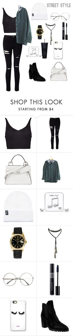 """Fresh Air"" by anabella1013 ❤ liked on Polyvore featuring Boohoo, Miss Selfridge, Proenza Schouler, Happy Plugs, Rolex, Christian Dior, Rianna Phillips and Azura"