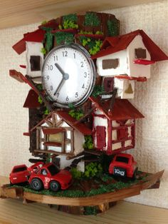 Handcraft remade Tree-houses clock.