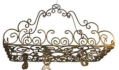 Posh Ornate French SCROLL Iron POT RACK Pan Hanging Ceiling Designer Metal Intelligent Design http://www.amazon.com/dp/B008H1LO8Q/ref=cm_sw_r_pi_dp_AcUaxb1ADCXHA