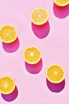 Pink + oranges all over
