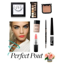 """Spring Coral"" by caitlinbc ❤ liked on Polyvore featuring beauty, MAC Cosmetics, NARS Cosmetics, Marc Jacobs, Rimmel, NYX, MAKE UP FOR EVER and springlips"