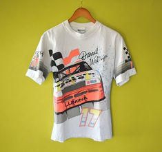 8de84c50f Items similar to 90s DARRELL WALTRIP Nascar T-Shirt TShirt Tee Shirt //  Size Small Mens Womens // 1992 1990s Car Racing Champion Monte Carlo White  17 on ...