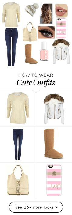 """""""cute winter outfit"""" by jenna-r-1372 on Polyvore featuring Calvin Klein, Urban Bliss, Essie, Spacecraft, Woolrich, UGG Australia, Big Buddha, Casetify, women's clothing and women's fashion"""