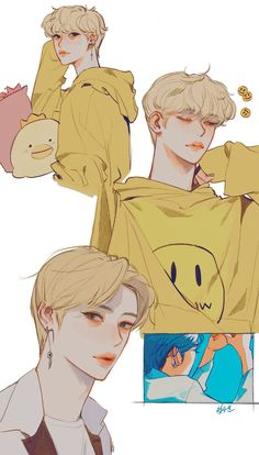 Kpop Drawings, Cute Drawings, Character Art, Character Design, Kids Fans, K Wallpaper, Anime Lindo, Felix Stray Kids, Estilo Anime