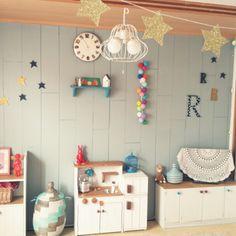 tonpuさんの、ベッド周り,子供部屋,マスキングテープ,ままごとキッチン,アルファベットオブジェ,セネガル バスケット,星ガーランド,のお部屋写真