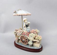 "Beautifully Detailed Lladro Porcelain Figurine ""Flowers of The Season"" 1454 | eBay"