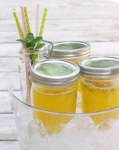 Pineapple orange mojitos