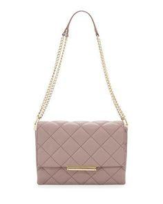KATE SPADE Emerson Place Lenia Quilted Shoulder Bag, Porcini. #katespade #bags #shoulder bags #leather #lace #