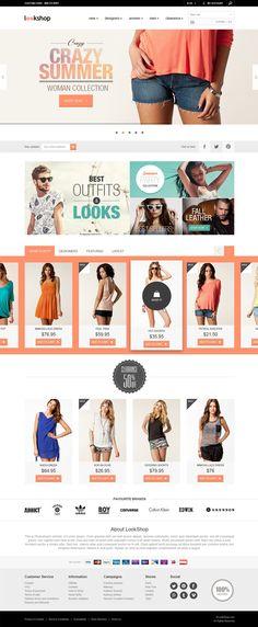 Free webdesign template. Nice ecommerce design. #layout #webdesign #ui #psd