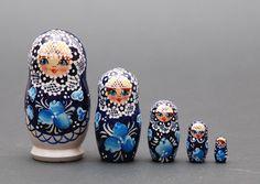 Russian Gzhel Bride nesting doll  5 pc Free by BestGiftIdeas, $32.90
