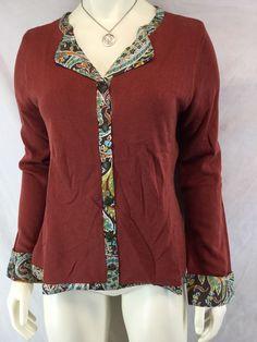Soft Surroundings Women's size Small Silk Cashmere Blend Sweater Cardigan Lined #SoftSurroundings #Cardigan