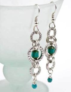 #PDF-130 - Turquoise Sky Earrings Project by Tracy Gonzales for TierraCast - Seed Beads Direct