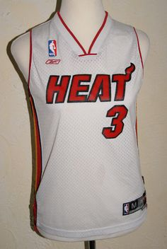 Reebok Team Apparel NBA Authentic Miami Heat Dwayne Wade Youth Jersey Medium 4ecc5f023