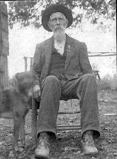 Great, Great, Great, Grandpa William Sparks, Civil War Vet, POW, awarded Southern Cross of Honor, with his trusty dog.