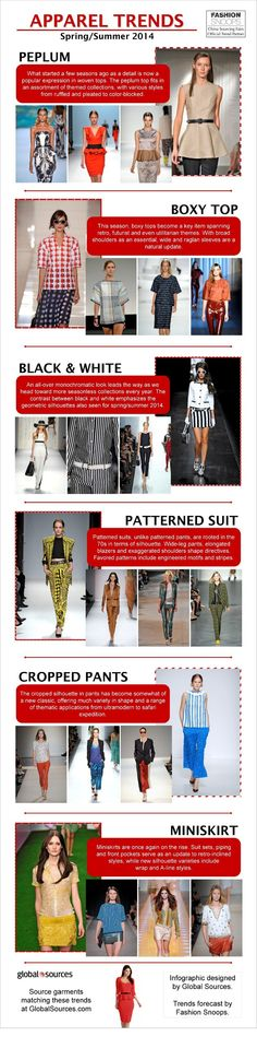 Apparel trends for spring summer 2014 - Infographic tops, patterned black & white ensembles -- these are some of the hot fashion styles to look forward to in and Spring Summer Trends, Summer 2014, Spring Summer Fashion, Spring 2014, 2014 Fashion Trends, 2014 Trends, Fashion Hub, Womens Fashion, Fashion Tips