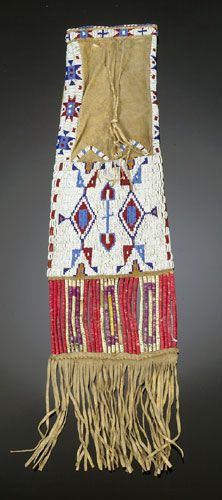 Sioux Beaded and Quilled Pipe Bag,ca 1900