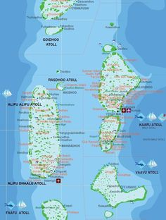 The Maldives, a group of about 1,200 islands, separated into a series of coral atolls, is just north of the Equator in the Indian Ocean. Only 200 of the islands are inhabited.