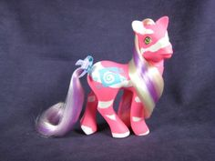 Springy-Colorswirl-Pony-Earth-10th-Anniversary-Pink-White-Hair-N-Mint