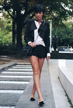 Sheinside  Blazers, Sheinside  Camisas / Blusas and Mont Affair  Pantalones cortos