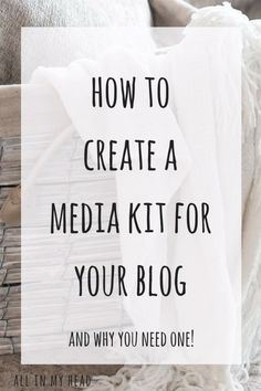 You need to create a media kit for your blog if you want to get in touch with brands. It's one of the things they might want to see before they agree to work with you! I show you everything you need to include so you can start making money from your blog.