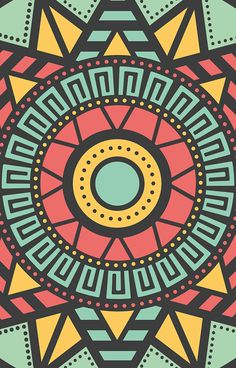 Aztec Pattern on Behance.   Gary Bains, http://www.mphstudio.com My most popular pin. Many people are using this as reference. FYI. It's a good one though so I can see why.