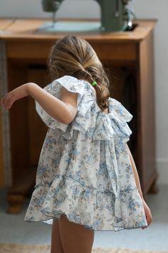 Vestido Lazo espalda flor azul EDICIÓN LIMITADA