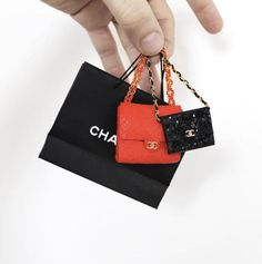 Diy Fashion, Fashion Dolls, Hermes, Purses And Bags, Miniatures, Chanel, Japanese, Shoulder Bag, Handbags