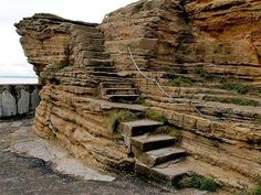 Burghead Steps, Burghead Harbour, Moray, Scotland.