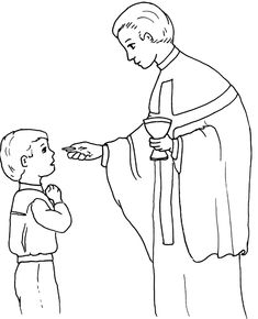 holy communion coloring page free printable picture for children to colour perfect for first