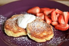 Ukrainian Syrniki recipe (cheese pancakes) oh my goodness I haven't had theses since Yalta, I've died and gone to heaven! too gummy. Cheese Recipes, Gourmet Recipes, Cooking Recipes, Healthy Recipes, Healthy Food, Eastern European Recipes, European Cuisine, Ukrainian Recipes, Russian Recipes
