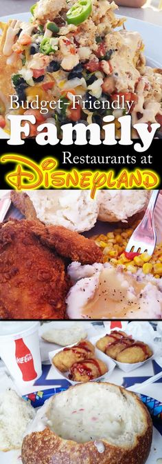 Best places to eat in Disneyland - Vacation - Family - kids - hot - California Adventure - Lobster Nachos - Fried Chicken - bread bowls