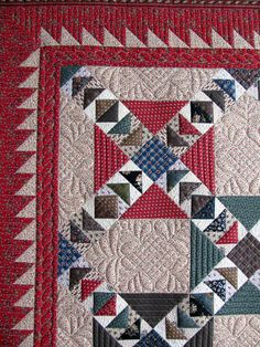 flying geese galore.  beautiful quilting too