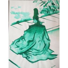 MEDITATION by Andre Delfau. Size: 23″ x 29″ Framed Medium: Gouache on Paper. Buy or Rent option. #fashion #fashionart #decarte #fashiochicago #chicagoart #beautifulart #beautiful
