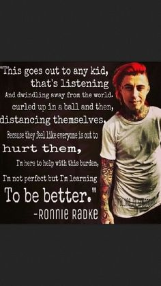 Ronnie Radke quote. I'm not a huge fan of falling in reverse by Ronnie radke is…