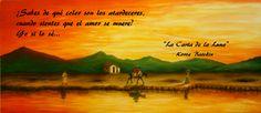 fragmento de La Carta de la Luna...  Pintura de C. Carlos Artesanías