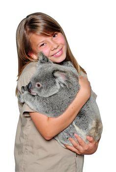 Bindi Irwin and a Koala friend at Australia Zoo.  v@e.
