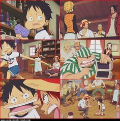 Ahahaha!! How it all begun! Look at Shanks trying to get it out of Luffy.rofl One Piece