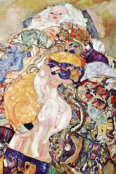 Baby Cradle, (1918) - Gustav Klimt