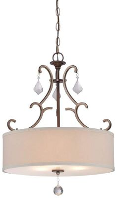 View the Minka Lavery 4353-593 3 Light Full Sized Pendant from the Gwendolyn Place Collection at LightingDirect.com.