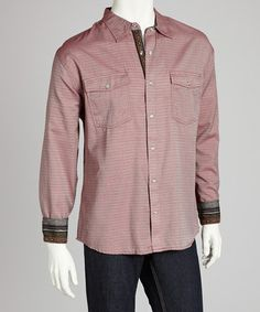 Take a look at this Rust Western Button-Up - Men by Scully on #zulily today!